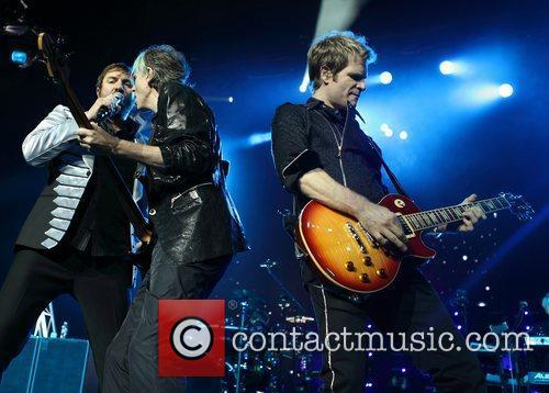 Duran Duran perform live at the Adelaide Entertainment...