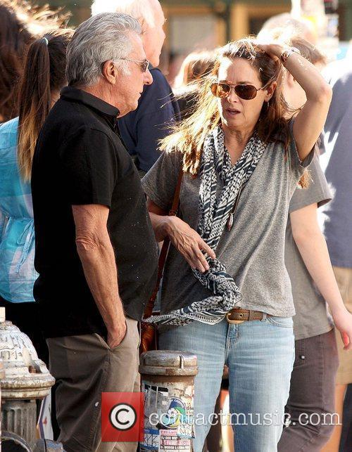 Dustin Hoffman and Lisa Hoffman Dustin Hoffman enjoys...