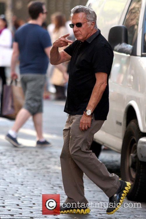 Dustin Hoffman  enjoys a sunny day in...