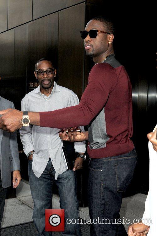 Dwayne Wade  seen exiting the Trump SoHo...