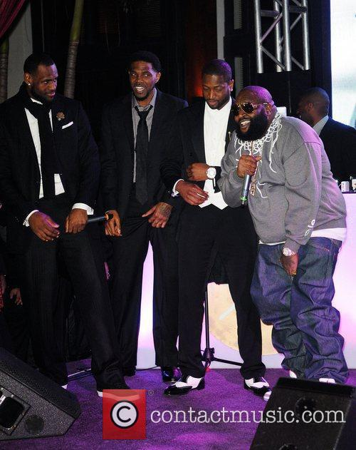 Lebron James, Dwyane Wade and Rick Ross 2