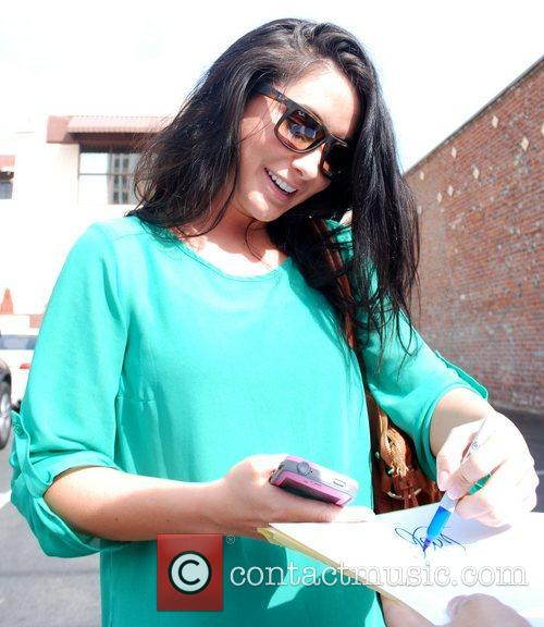 Bristol Palin leaves the rehearsal space for 'Dancing...