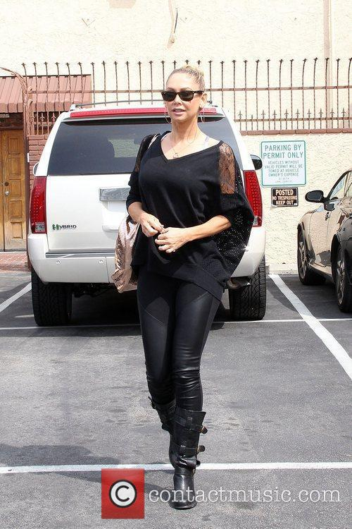 Kym Johnson Celebrities arrive at the rehearsal space...