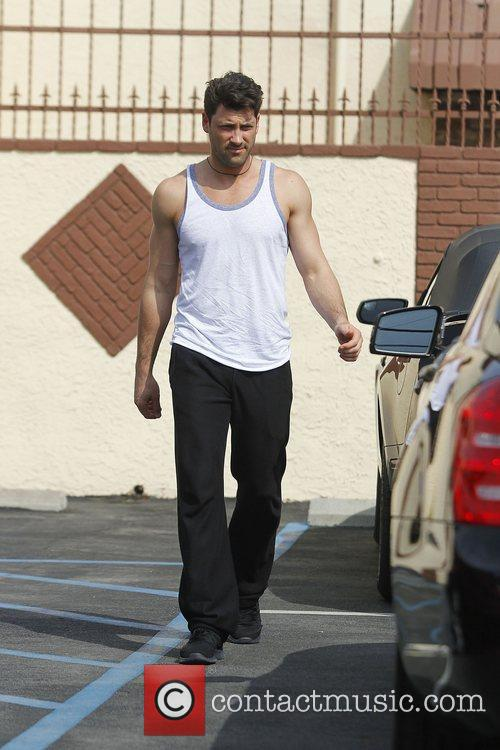 Maksim Chmerkovskiy Celebrities arrive at the rehearsal space...