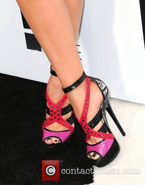 Khloe Kardashian shoes,  at E! 2012 Upfront...