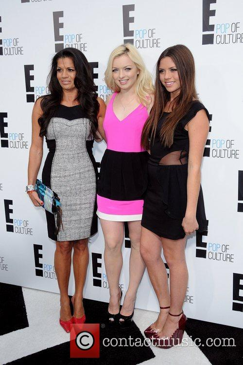 Dina Eastwood, Francesca Eastwood and Morgan Eastwood 2012...
