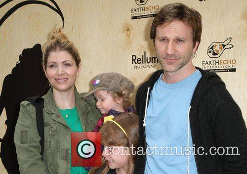 Breckin Meyer with his Family at the 'Last...