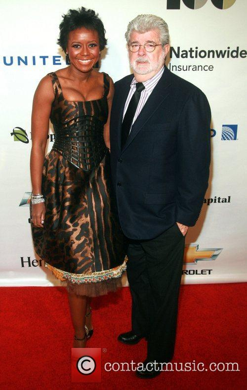 Mellody Hobson and George Lucas Ebony Power 100...
