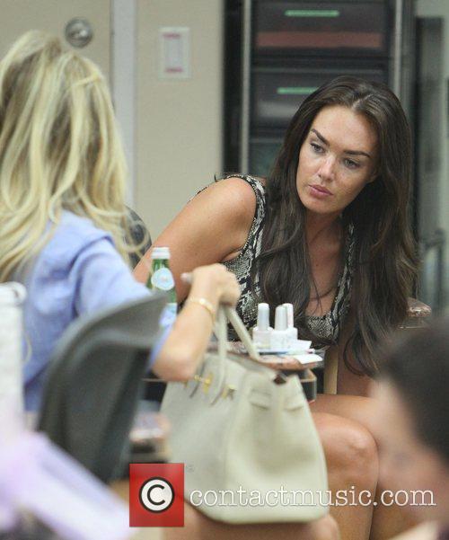 Petra Ecclestone at a nail salon in Beverly...