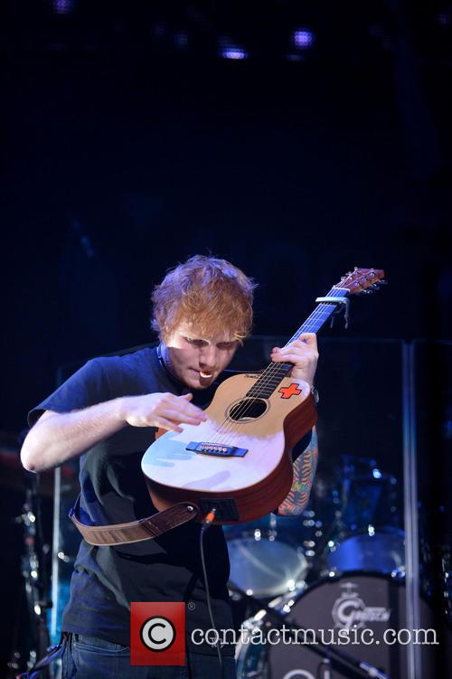 ed sheeran performs onstage during the y100s 20022835