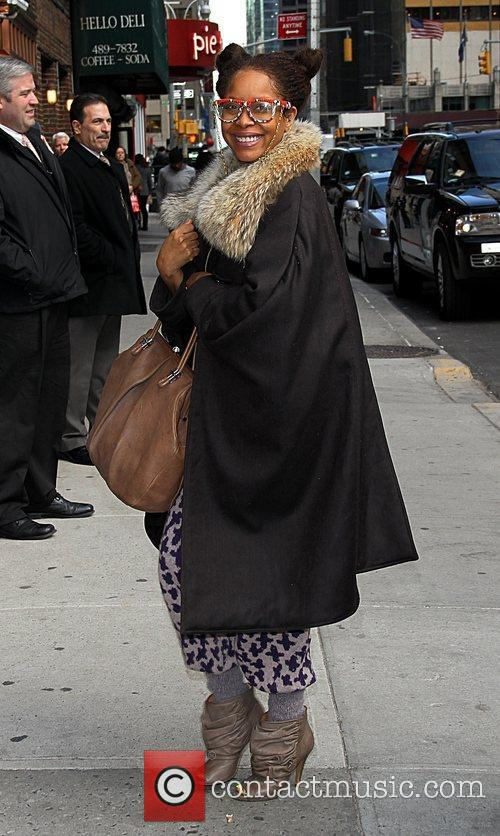 Erykah Badu  arrive at the Ed Sullivan...