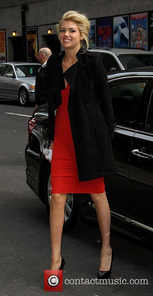 Kate Upton arrive at the Ed Sullivan Theater...