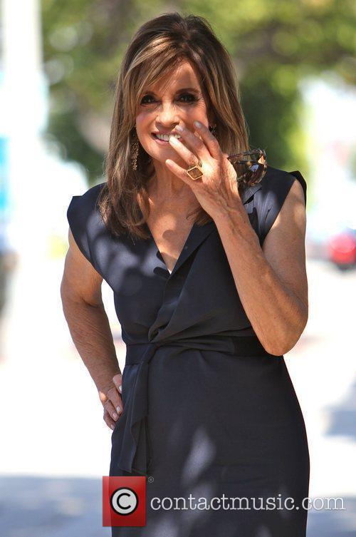 Linda Gray  seen arriving at Kate Somerville...