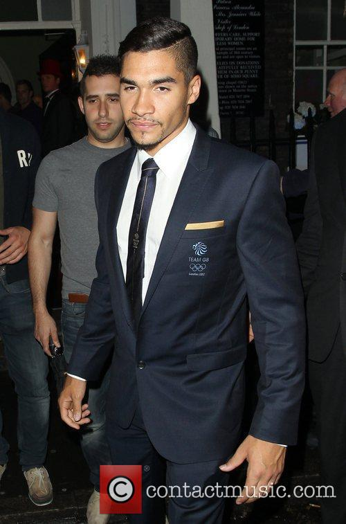 Louis Smith leaving The House of St Banabas...