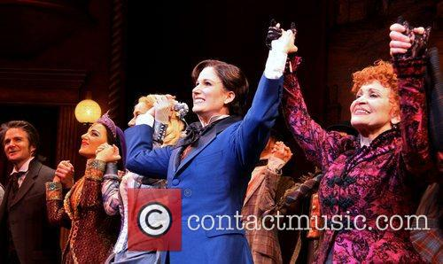 Peter Benson, Jessie Mueller, Betsy Wolfe, Stephanie J. Block and Chita Rivera 5