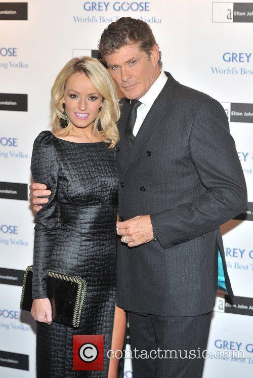 David Hasselhoff and Hayley Roberts 1