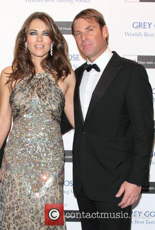 Elizabeth Hurley and Shane Warne The Elton John...