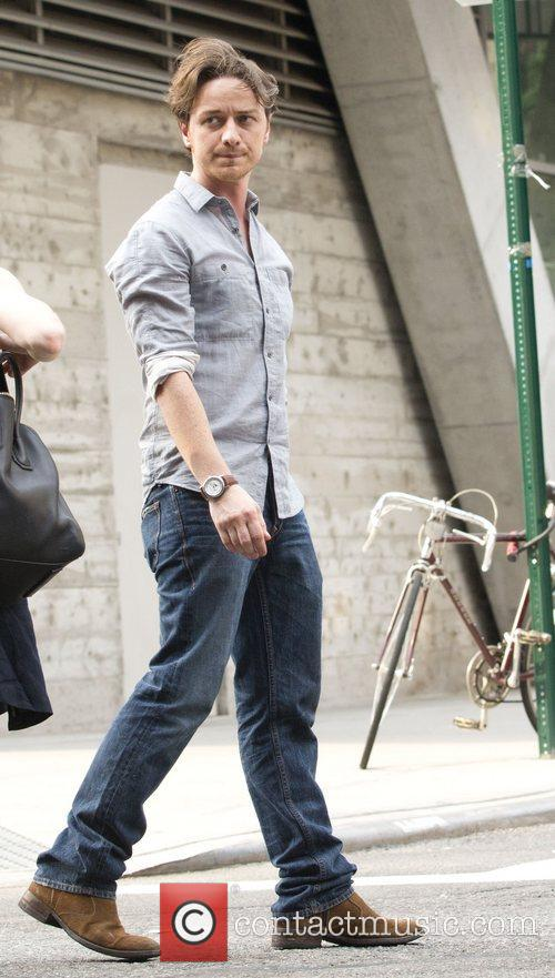 James McAvoy on the set of 'The Disappearance...