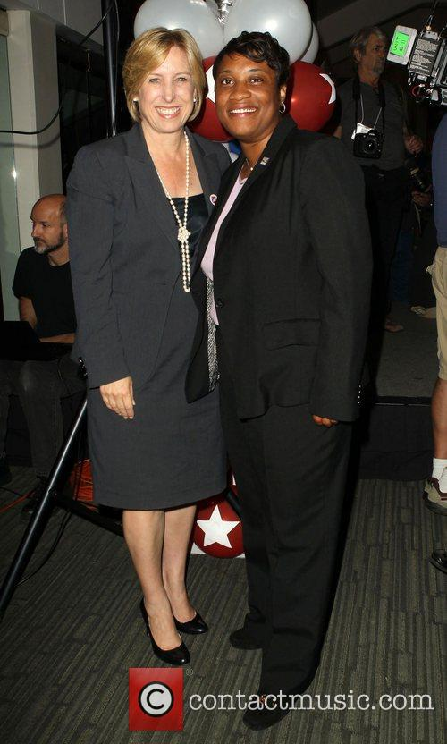 LA City Controler Wendy Greuel, President of (SEIU)...
