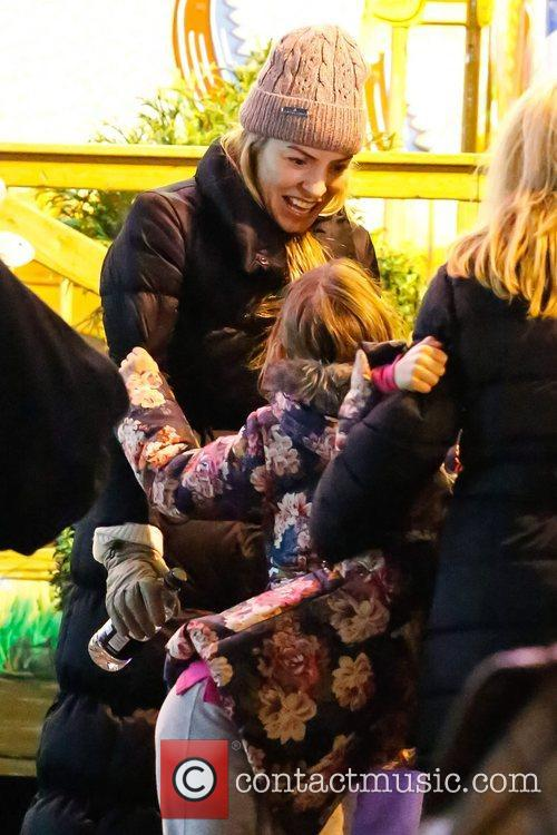 Visits Hyde Park's Winter Wonderland with her daughters...