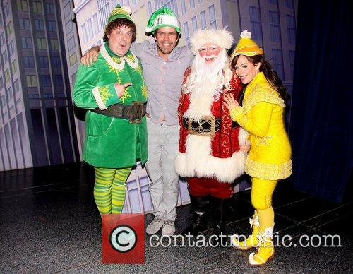 Backstage at the Broadway musical 'Elf', at the...