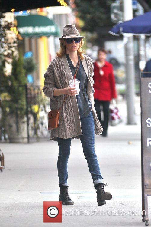 Elizabeth Banks out picking up coffee in West...