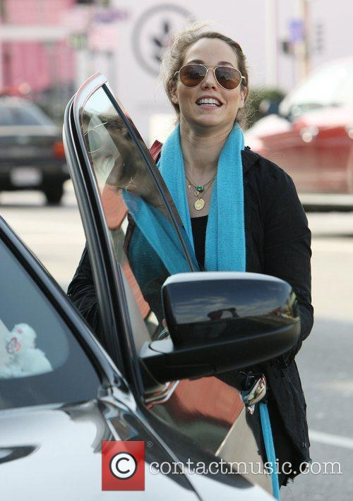 Walking to her car in West Hollywood