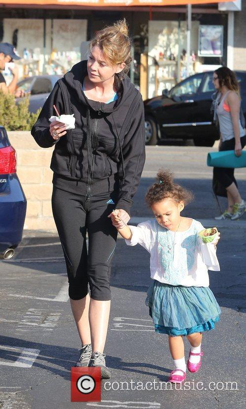 Ellen Pompeo with her daughter Stella Luna Pompeo...