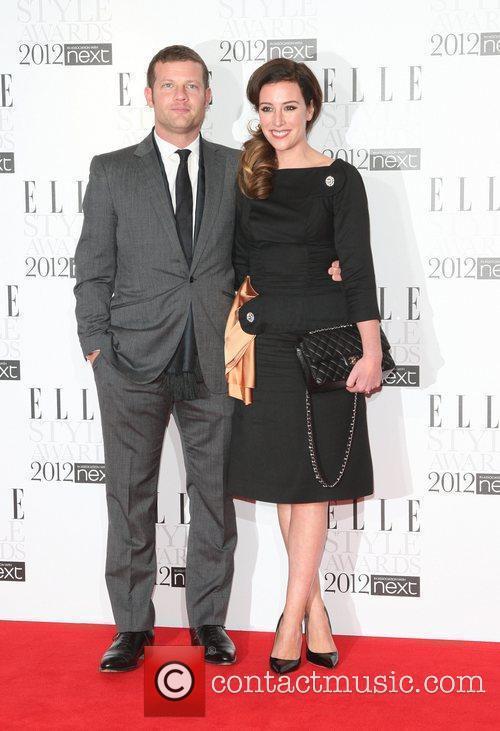 Dermot O'Leary and girlfriend Dee Koppang The Elle...