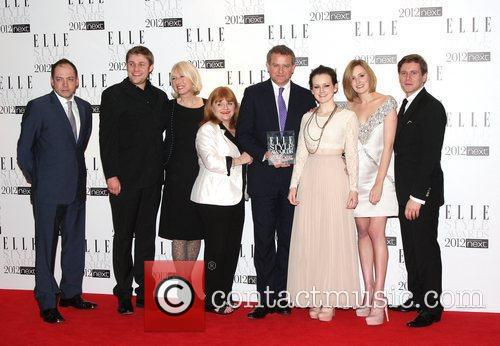 Lesley Nicol, Allen Leech, Hugh Bonneville and Laura Carmichael 3