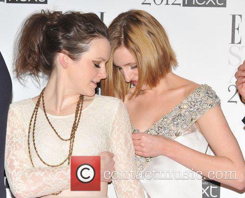 Cast members of Downton Abbey Sophie McShera, Laura...