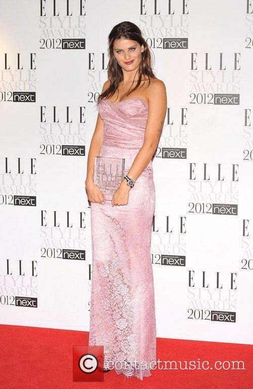 Isabeli Fontana with her 'Best Model' award ELLE...