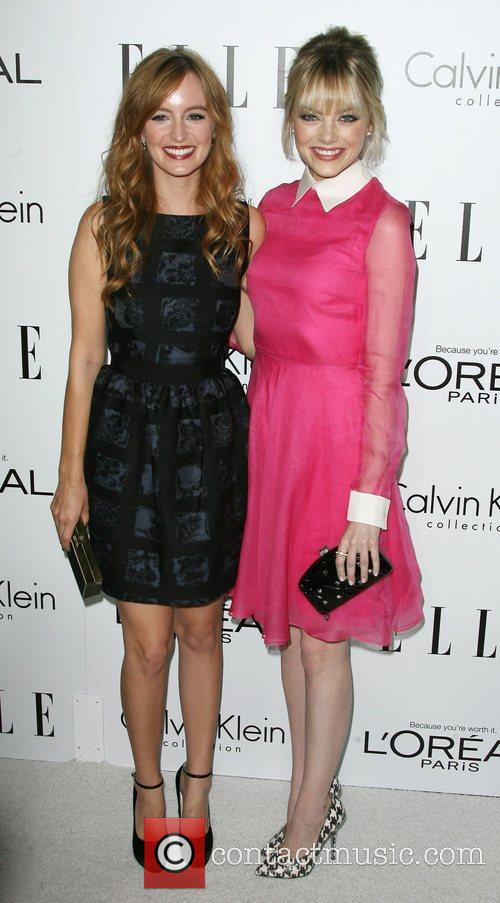 Ahna O'Reilly and Emma Stone ELLE's 19th Annual...