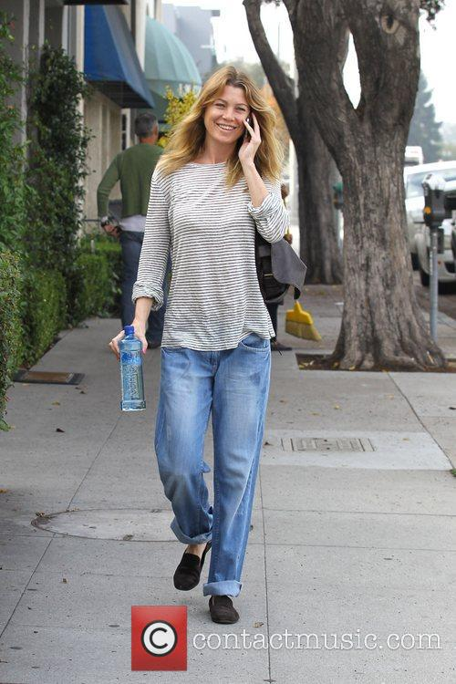 Actress Ellen Pompeo is seen out and about...