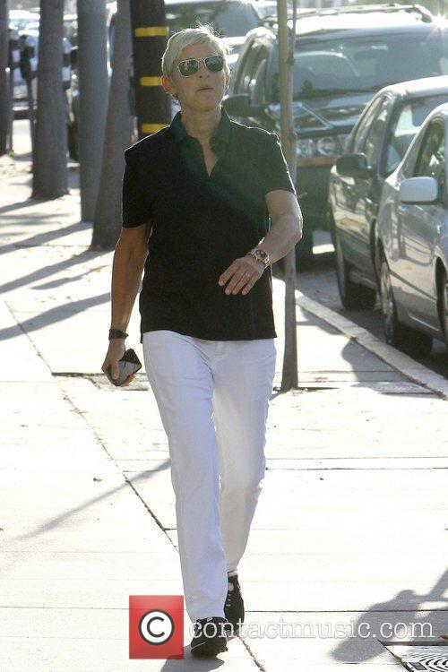 Ellen DeGeneres seen out and about Los Angeles,...