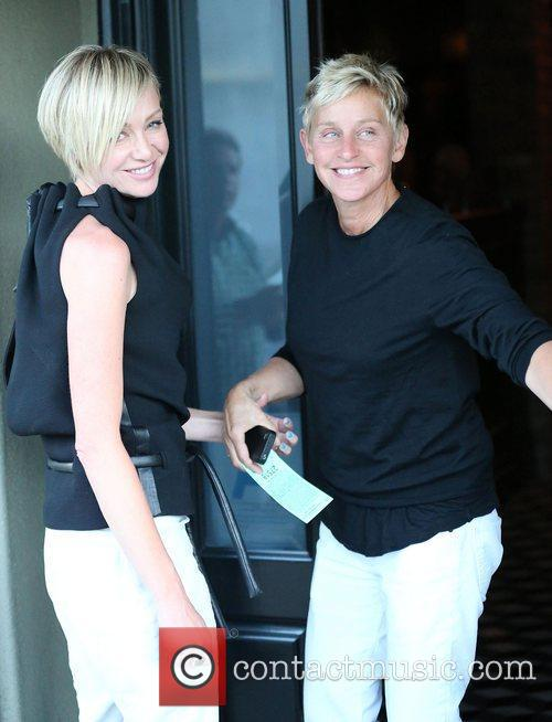 Ellen DeGeneres and Portia de Rossi arrive for...