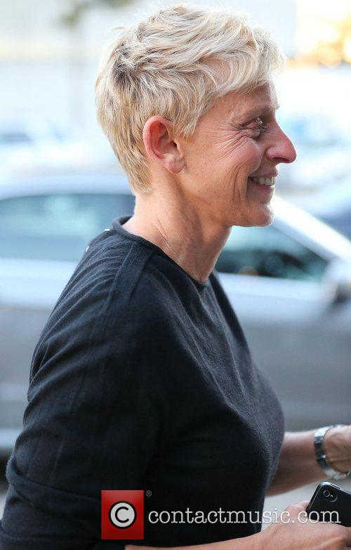 Ellen DeGeneres arrives for dinner at Craig's Restaurant.