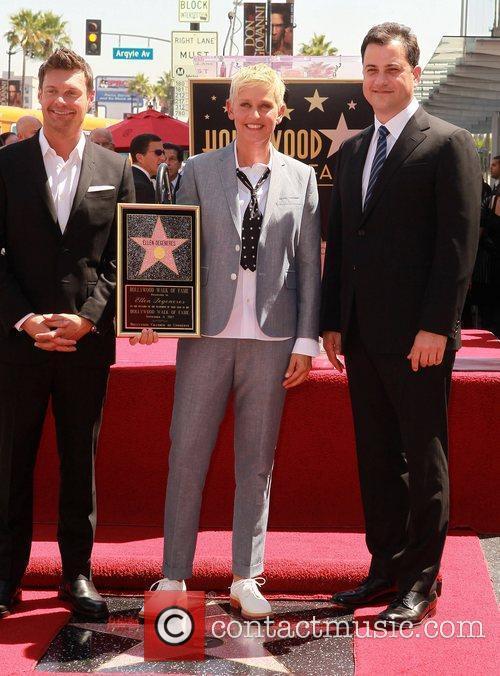 Ryan Seacrest, Ellen Degeneres and Jimmy Kimmel 2