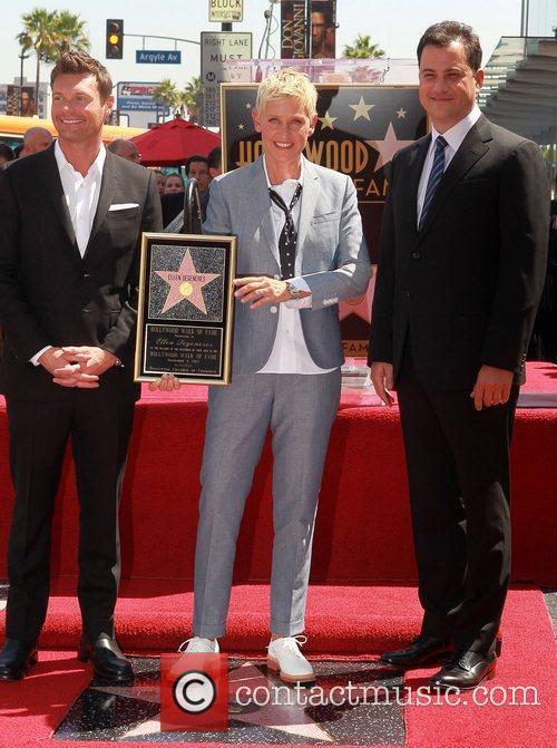 Ryan Seacrest, Ellen Degeneres and Jimmy Kimmel 3