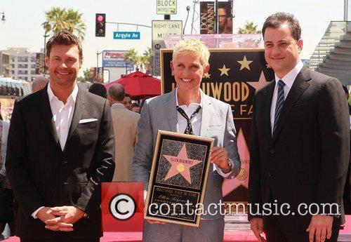 Ryan Seacrest, Ellen Degeneres and Jimmy Kimmel 4