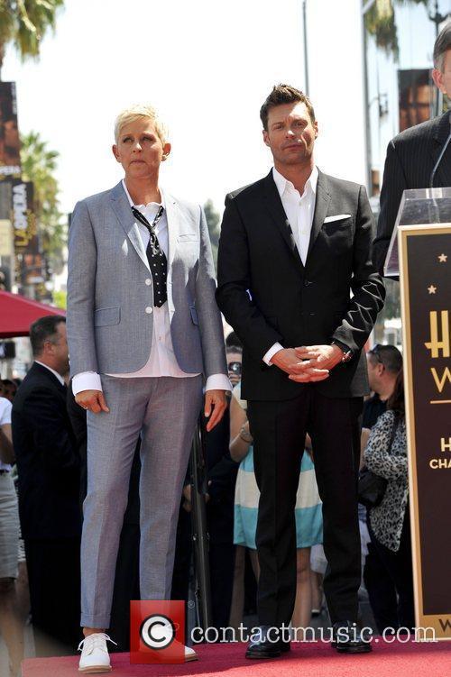 Ellen Degeneres and Ryan Seacrest