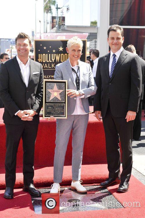 Ryan Seacrest, Ellen Degeneres and Jimmy Kimmel 1