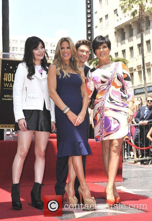 Miranda Cosgrove, Kris Jenner, Ryan Seacrest and Star On The Hollywood Walk Of Fame 2