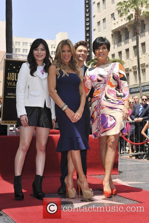 Miranda Cosgrove, Kris Jenner, Ryan Seacrest and Star On The Hollywood Walk Of Fame 3