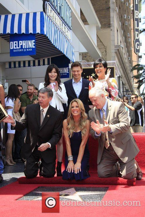 Miranda Cosgrove, Kris Jenner, Ryan Seacrest and Star On The Hollywood Walk Of Fame 5