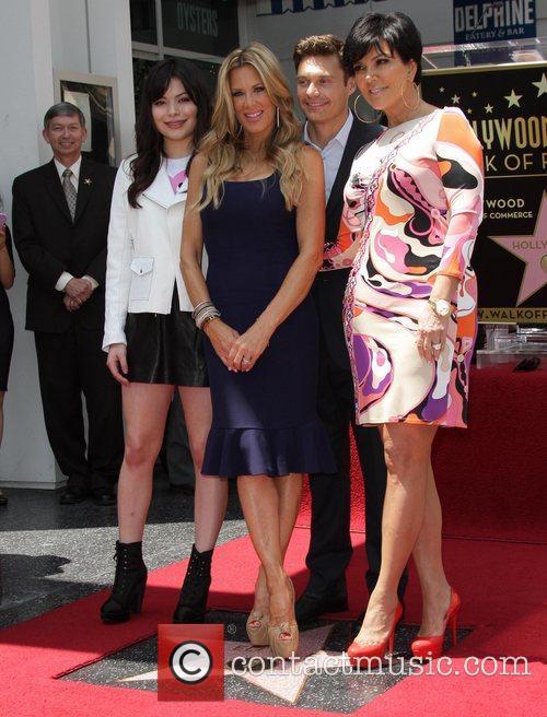 Miranda Cosgrove, Kris Jenner, Ryan Seacrest and Star On The Hollywood Walk Of Fame 8