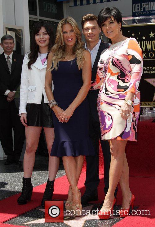 Miranda Cosgrove, Kris Jenner, Ryan Seacrest and Star On The Hollywood Walk Of Fame 9