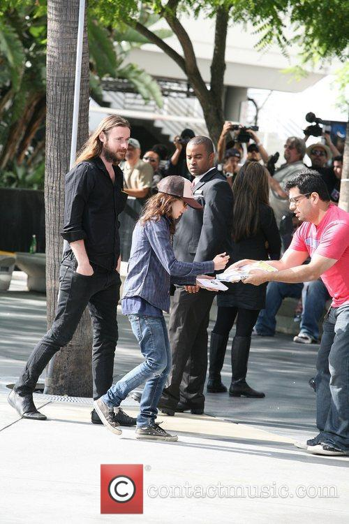Ellen Page at the Staples Centre with a...