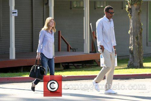Ellen Pompeo, Chris Ivery and Election Day 7