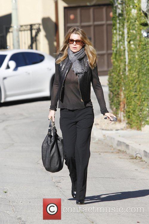 Wears a very sheer shirt while running errands...